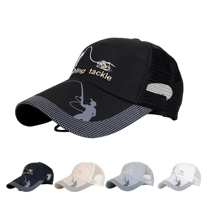 Unisex Outdoor Sport Adjustable Fishing Cap Snapback Golf Hat Sun Visor