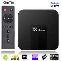 Amlogic Quad Core Android 7.1 TV BOX 2GB 16GB 1080P HD Video Media Player YOUTUBE Google WIFI Mini HDD player + Remote Control