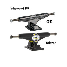 Independent Truck 139mm Black Skateboard Trucks with Aluminum Hangers and Baseplates & Chromoly Steel Axles for 7.75″-8.25″ Deck