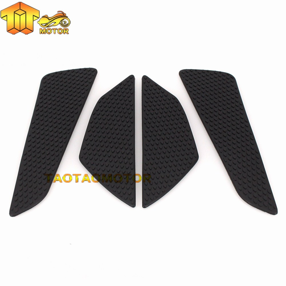 Perfeclan Motorcycle Protector Anti slip Tank Pad Sticker Gas Knee Grip Traction Side Decal Black FOR ATV Motorbike