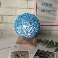 Creative LED Night Light Rattan Ball 3d Lamp Baby Light Adjustment USB Charging Home Decor Table Light For Bedroom Decoration все цены