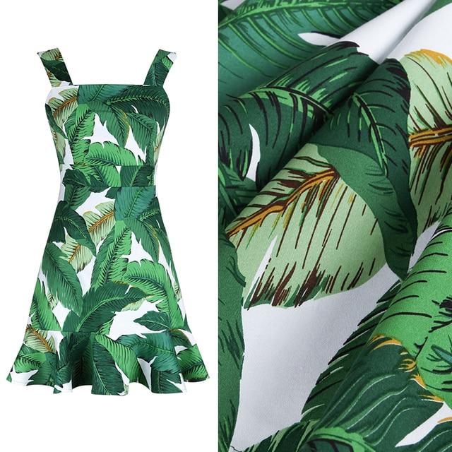 vert feuille de bananier teinture r active imprim coton stretch tissu pour robe sac table tissu. Black Bedroom Furniture Sets. Home Design Ideas