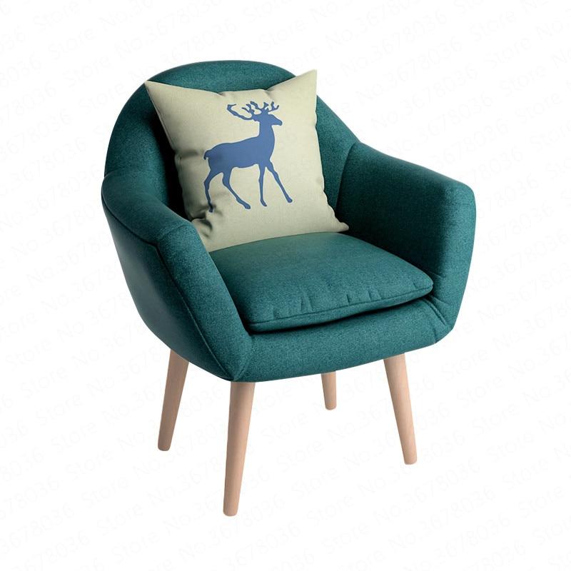 Nordic Single Lazy Sofa Balcony Lounge Chair Modern Minimalist Hepm Sofa Chair With High Bounce Sponge Bedroom Living Room