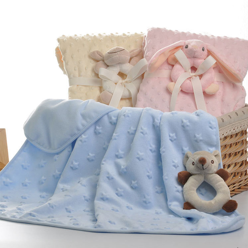 Soft Baby Blanket Newborn Blanket Infant Baby Swaddle Nap Receiving Stroller Wrap Newborn Baby Bedding Blankets BK008 free shipping infant children cartoon thick coral cashmere blankets baby nap blanket baby quilt size is 110 135 cm t01