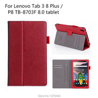 Official Original TAB3 8 Plus Leather Cover For Lenovo Tab 3 8 Plus TB 8703 TB