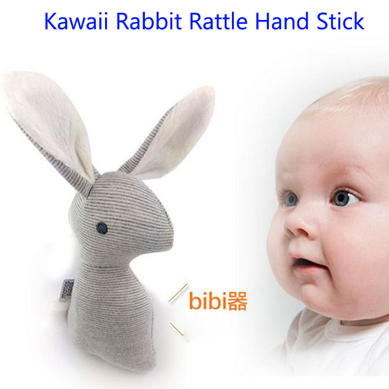 Kawaii Baby Rattle Toys Animal Rabbit Hand Bells Soft Plush Baby Toy With BB Sound Toy Gift Christmas Plush Doll Toys for Kids