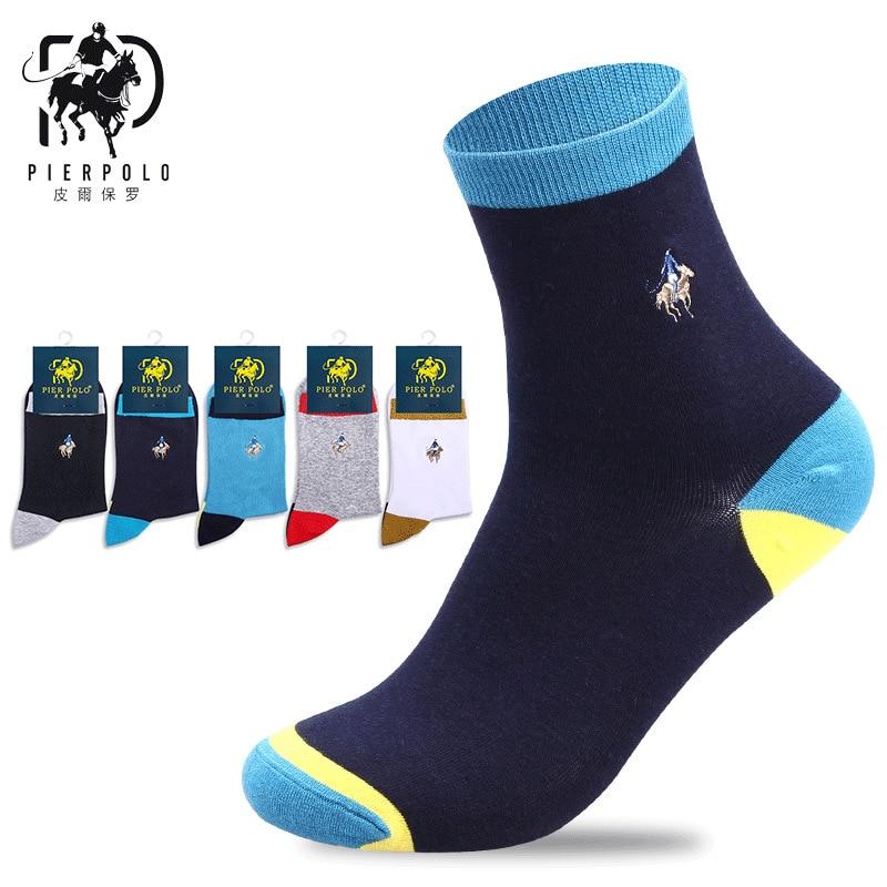 Orderly Pierpolo Brand Socks 5pairs/lot Cotton Winter Socks Calcetines Embroidery Men Socks Casual Cotton Crew Socks Men Underwear & Sleepwears