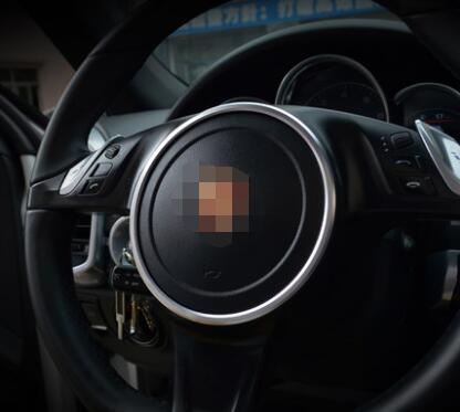 Aluminium Alloy Steering Wheel Cover Trim For Porsche Panamera Accessories alu alloy turnplate for wheel aligner steering turntable