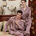Couple Pajamas Women Luxurious Silk Satin Love Sleep Men Silk Pyjamas Women Lounge Silk Pajama Sets 3XL
