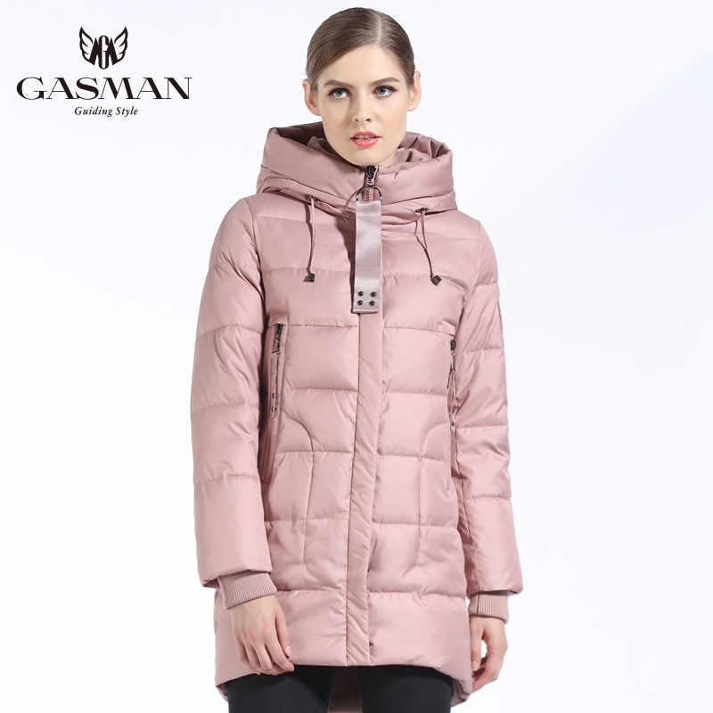 GASMAN 2018 Brand Women Down Jackets And Coats Medium Length New Winter Collection Warm Female Thick Parka Hooded Overcoats