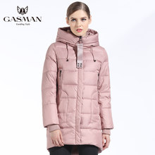 GASMAN 2018 Brand Women Down Jackets And Coats Medium Length New Winter Collection Warm Female Thick Parka Hooded Overcoats(China)