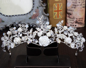 Image 2 - Hat Bridal Wedding Hat Sets Womens Bridal Hat Vintage Crystal Wedding Accessories Fashion