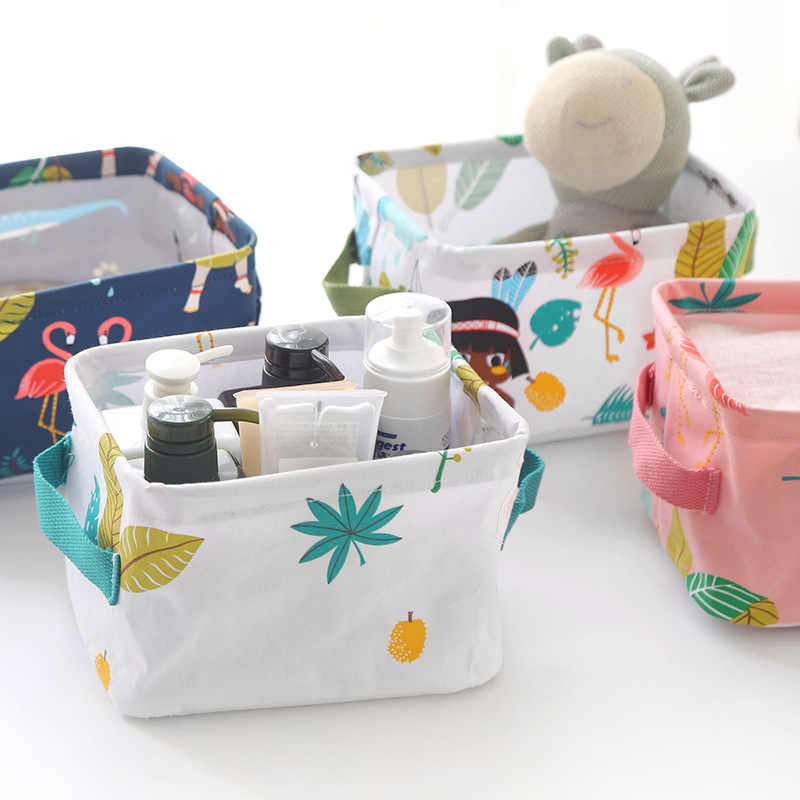 New Non Woven Fabric Folding Underwear Storage Box Bedroom: Detail Feedback Questions About Cartoon Cat Cotton Linen