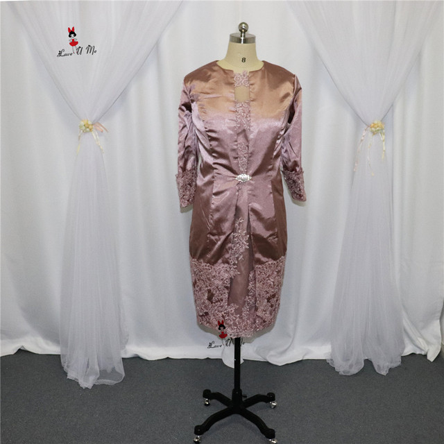 Vestido de Madrinha Rosa Mutter der Braut Kleid mit jacke 2017 Hose ...