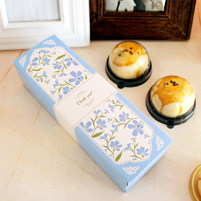 21.5*6.8*4cm 10pcs Macarons light blue Macaron Chocolate Paper Box Christmas Birthday Party Gifts Packaging Storage Boxes