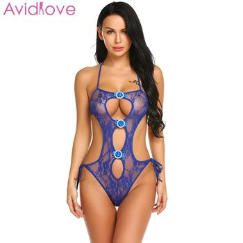 Avidlove Women Bodystocking Erotic Hot Body Suit Teddy Sexy Lingerie Sleepwear Lace Babydoll Bodysuit mujer lenceria femenina 2