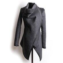 Women's Woolen Coats Autumn Fashion Long-Sleeve Jackets For Female Cool Coat Slim Solid Clothes Women's Jacket 2016