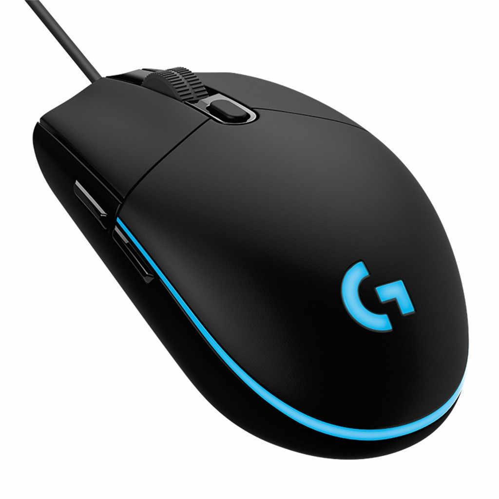 Juego Gamer ratón Logitech G102 cable USB Juegos RGB ratón 8000DPI programable ratones portátiles игровая мышь Mause para Overwatch