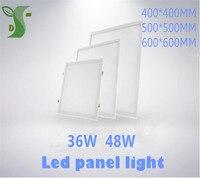 Ultra Thin 36W 48W aluminum square LED large Downlight lights 400*400 500*500 600*600 flat panel lights AC85 265V SMD2835