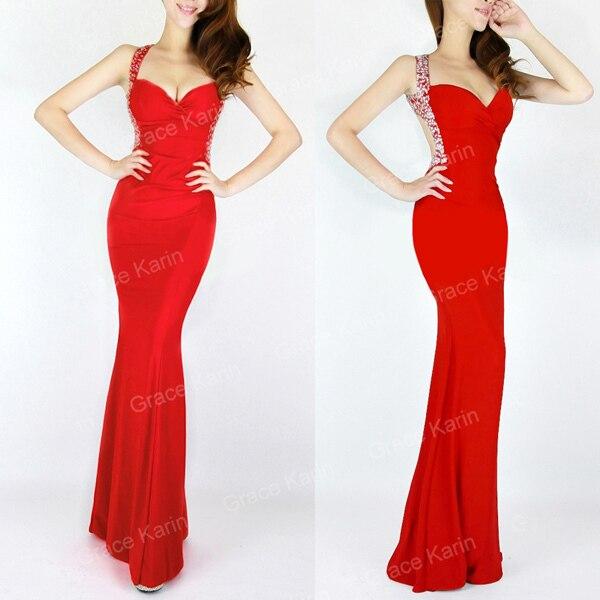 Grace Karin cheap Women Slim line bodycon Prom Dresses Long Evening ...