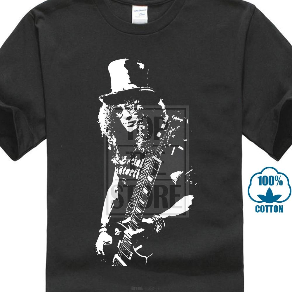 Slash T-shirt Guitariste Guitare 1970 s 1980 s Rétro Vintage D'anniversaire Guns & Roses