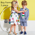 kids boy blazer set formal suit children gentleman suits baby boy wedding  dress boys full  striped outfits+pant sets clothes