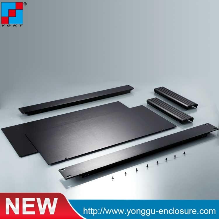 Chasis De Montaje En Rack De 19 Pulgadas Caja De Aluminio Diy 482*44,5*200mm (w X H-l)