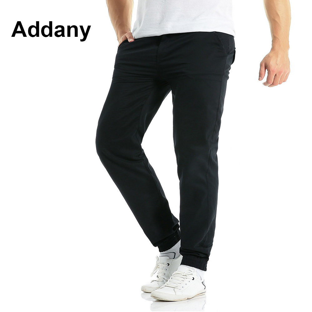 Addany New Mens pants Casual Sweatpants Stretch Casual Pants Men Trousers Male Black Sweatpants Mens Work Pants Streetwear