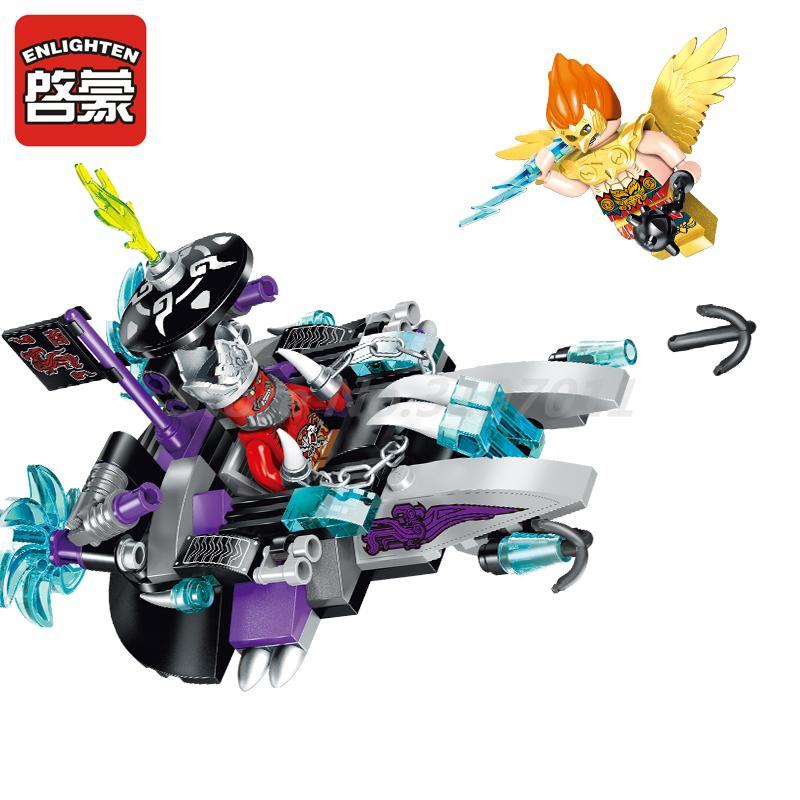 Enlighten 2203 129pcs Creation Of The Gods Mixed Magic Ship Figure Building Block Brick Educational Toys For Children Gifts