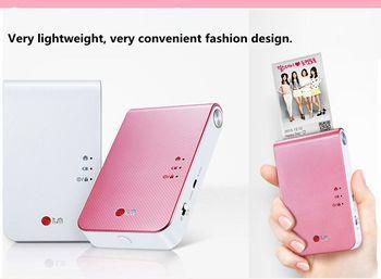Portable photo printer PD239 mini mobile phone with bluetooth wireless camera for portable pocket printing machine,color printer