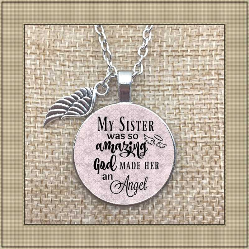 2019/ New commemorative necklace, my sister's loss, my sister is so amazing God made her an angel and lost her sister.