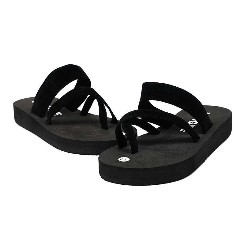 Senza Fretta 2019 Yeni Kadın Yaz kaymaz platform ayakkabılar Takozlar Yüksek Topuk Kadın Açık plaj terlikleri Sandalet sapato feminino