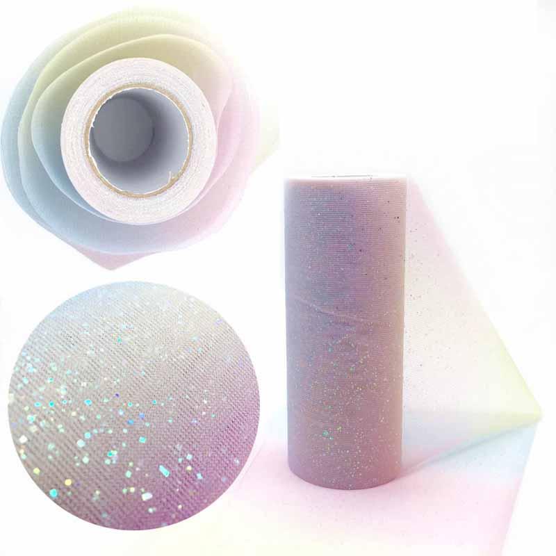 Rainbow Tulle Roll Spool Fabric Ribbon DIY Table Runner Table Tutu kids Skirt Wedding Pa ...