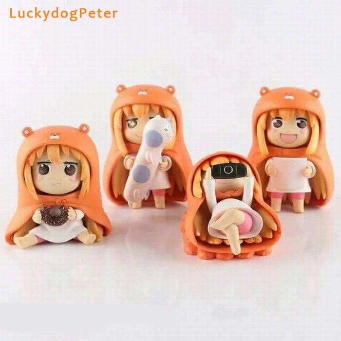 Himouto! Umaru-chan 4pcsset Action Figures 110 scale painted figure Cute Ver. Doma Umaru Dolls PVC ACGN figure Toys Anime 10CM