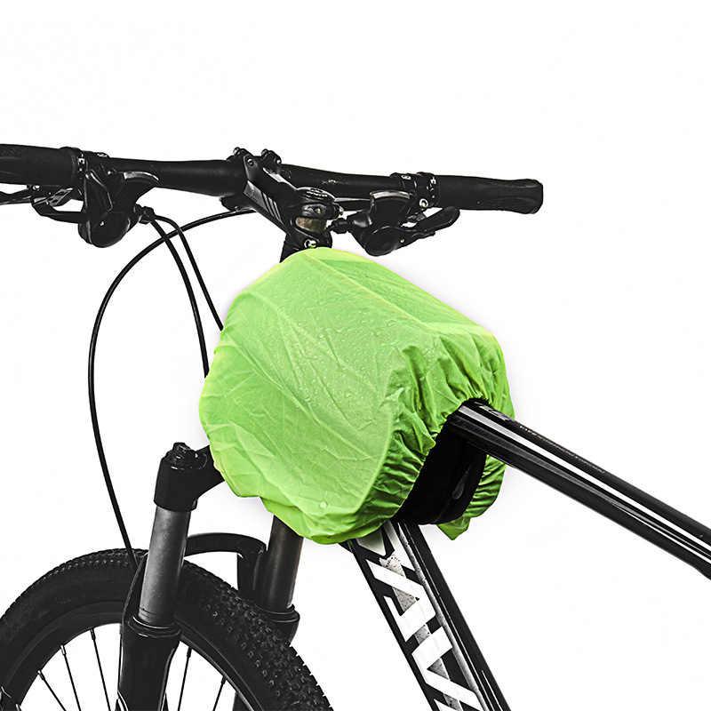 3 в 1 большой емкости сумки Сверхлегкий 6 дюймов ТПУ сенсорный экран велосипед Топ Tupe сумка MTB светоотражающие велосипедные аксессуары с дождевиком