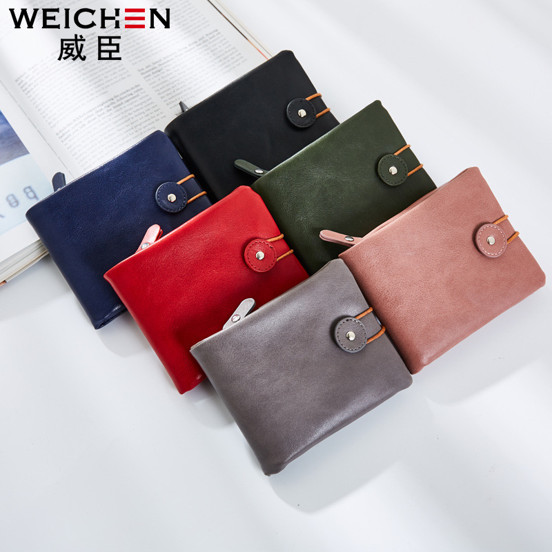 Free shipping 2017 new arrival fashion women's mini wallets brand short wallet PU leather solid color retro zipper change purse