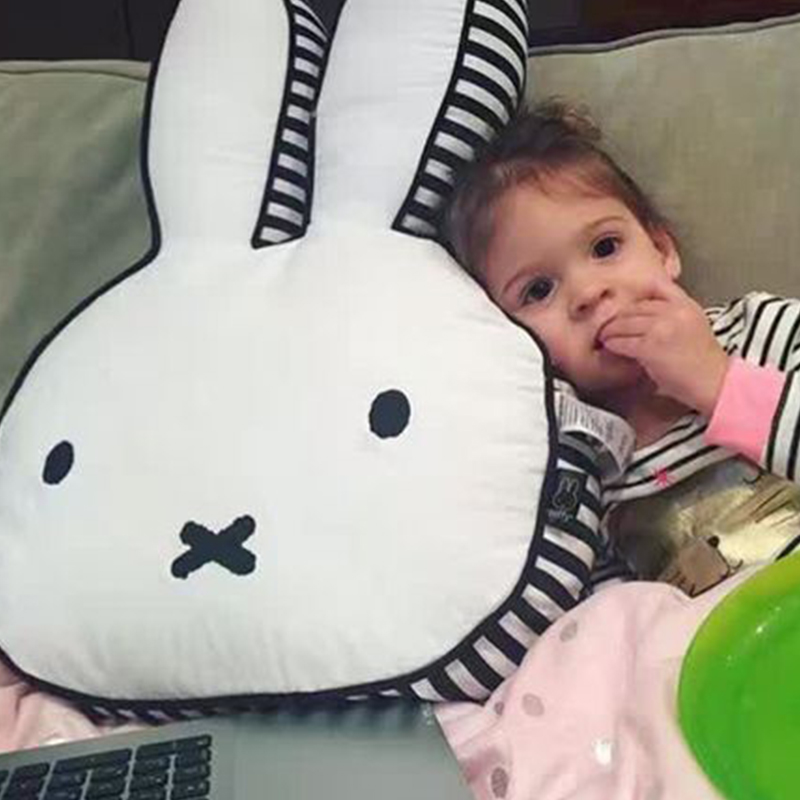 baby rabbit pillow kids sleep cushion pillows baby room decoration infant car bunny pillow boys girls