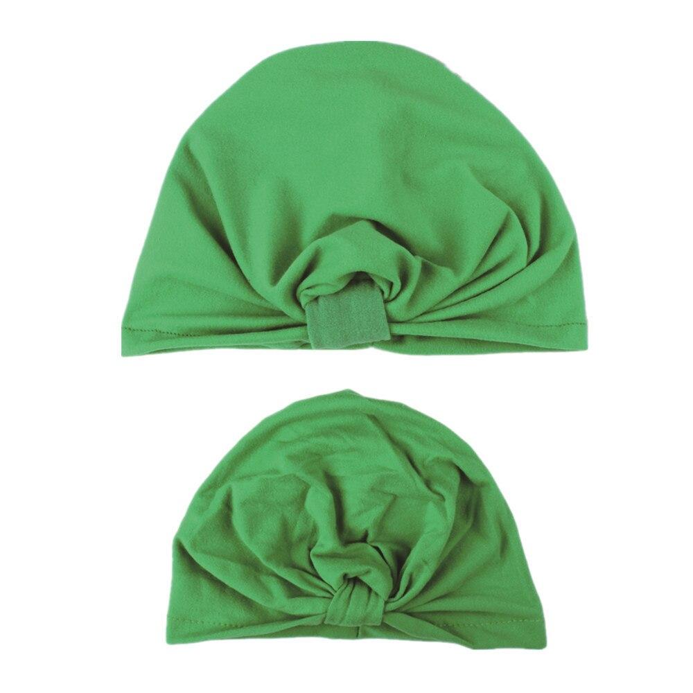 Baby Girl Boys Hat Warm 2pcs Mommy and Baby Turban Sport Yoga Indian Hat Beanie Cap Infant Winter Newborn Baby Clothing 18Nov5