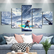 Canvas Paintings Wall Art HD Printed 5 Set Horizon Zero Dawn Game Poster Home Decoration Modular Picture For Bedroom Framework