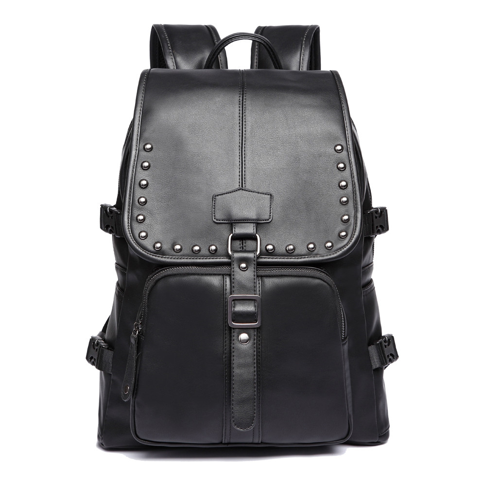 2017 NEW Korean Man PU Leather Backpack Male New Style Junior Middle School Students' Leisure Travel Backpack fashion Bag 2017 new korean man pu leather backpack male new style junior middle school students leisure travel backpack fashion bag