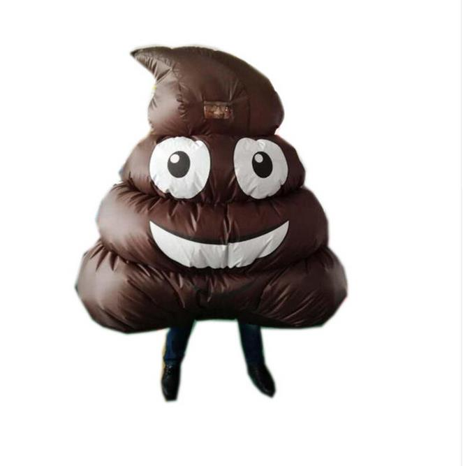 Funny Inflatable Costumes Women Men Halloween Cosplay Disfraz Mujer Adulto Carnaval Suit Outfit For Adults Emoticon Poo Desiger