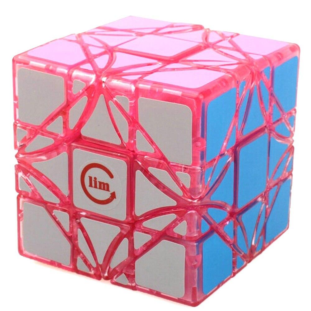 Nouveau Limcube Dreidel Transparent rose 65mm 3x3x3 Cube magique vitesse Puzzle Cubes (édition limitée) enfants jouets