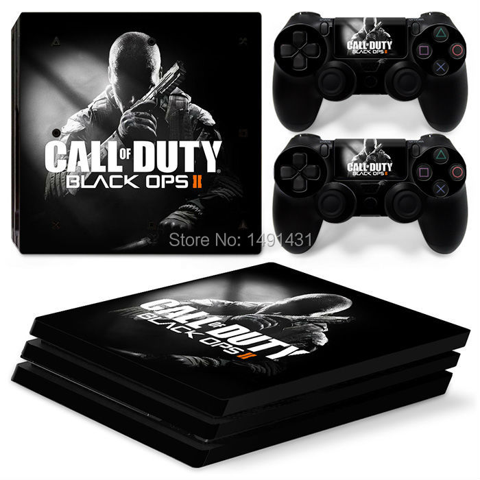 OSTSTICKER Black OPS 2 Skins Sticker For Sony PS4 Pro Console Controller Games Wrap Decal