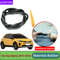 Car-styling For Kia Stonic 2017-2019 Anti-Noise Soundproof Dustproof Car Dashboard Windshield Sealing Strips   Auto   Accessories