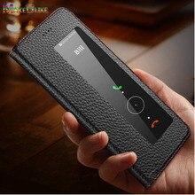 אמיתי עור מקרה עבור Huawei P30 פרו Flip מקרה מגנטי חלון צפה כיסוי עבור Huawei P30 פרו P30Pro טלפון שקיות מקרי