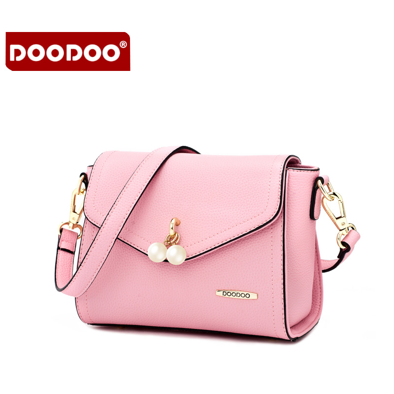 DOODOO Brand Fashion Women Bag Female Shoulder Crossbody Bags Ladies Artificial Leather Pearl New Small 6 Colors Messenger Bags doodoo brand fashion women bag female shoulder crossbody bags ladies artificial leather rivet new small 3 colors messenger bags