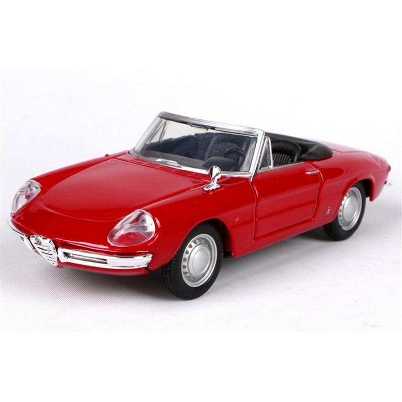 Kids toys 1:32 escala modelo de coche alfa romeo spider juguete modelo de decora