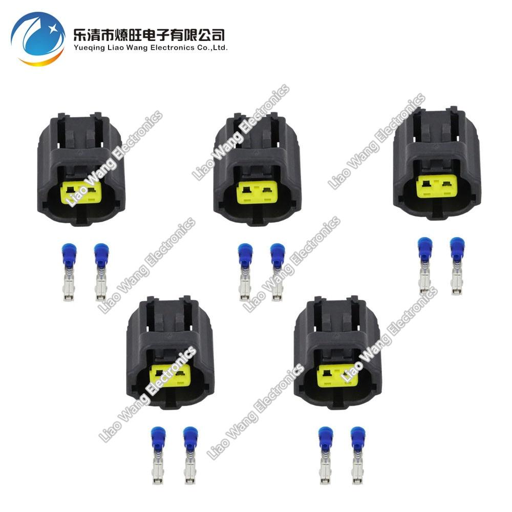 5 sets  2 pin water temperature sensor plug Engine connector with terminal DJ70217Y-1.8-21 2P connector