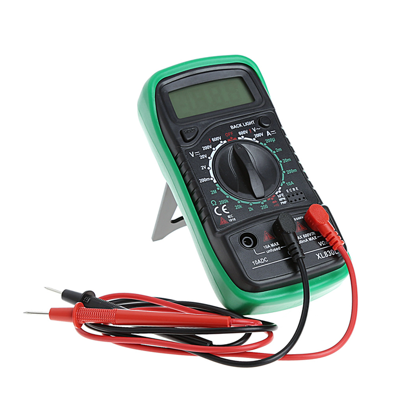 Hohe Qualität Handheld Zählt Mit Temperaturmessung LCD-Digital-Multimeter Tester XL830L Ohne Batterie