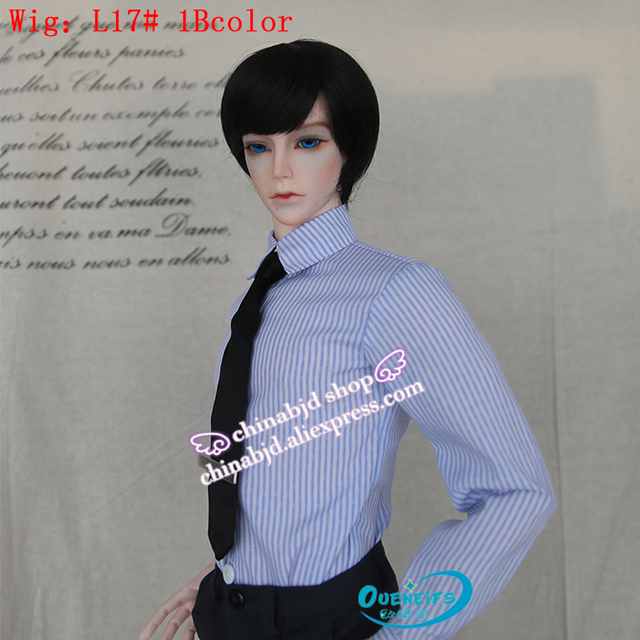 Wig For Doll BJD free shipping wig 9-10 inch 1/3 high-temperature wig boy short hair doll with bangs fashion type stylish hair